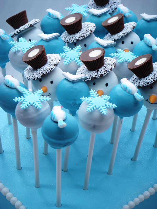 Blue Christmas Cake Pops