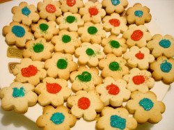 Butter cookies – flowers