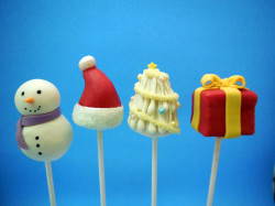 Cake pops for Christmas
