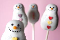 Cake pops – snowman