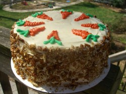 Carrot with nuts cake