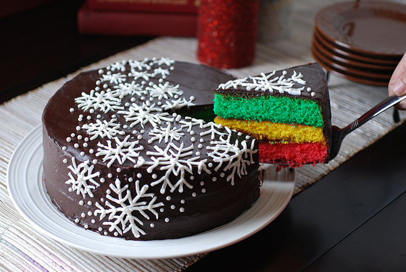Chocolate Christmas Cake Decorating Ideas : Chocolate Christmas cake