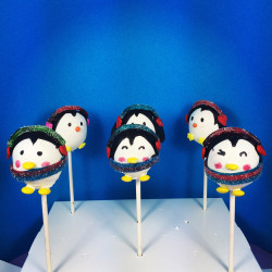 Christmas cake pops – penguin