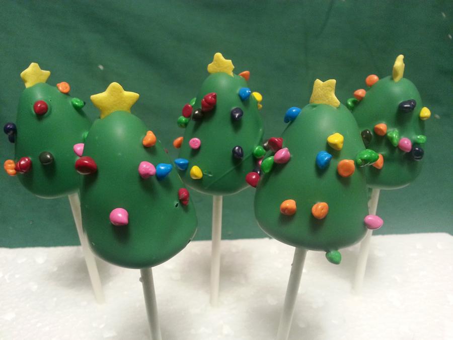 Images Of Christmas Cake Balls : Christmas tree   cake pops