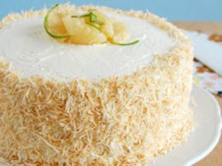 Coconut cake and key lemon