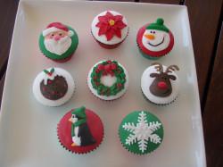 Crazy Christmas cupcakes