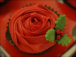 Cristmas cupcake – rose