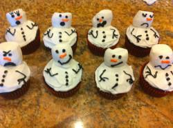Cupcakes – snowman
