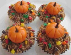 Cupcakes with pumpkin