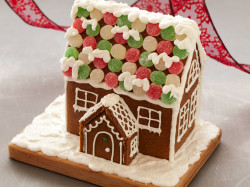 Gingerbread house with candies