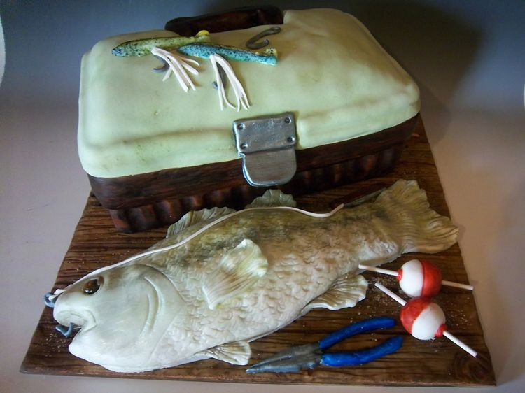 Groom's cake – fishing