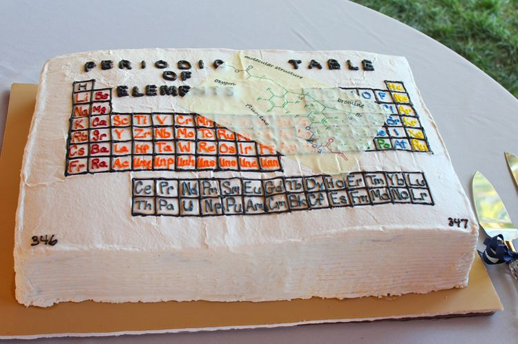 Groom's cake – periodic table