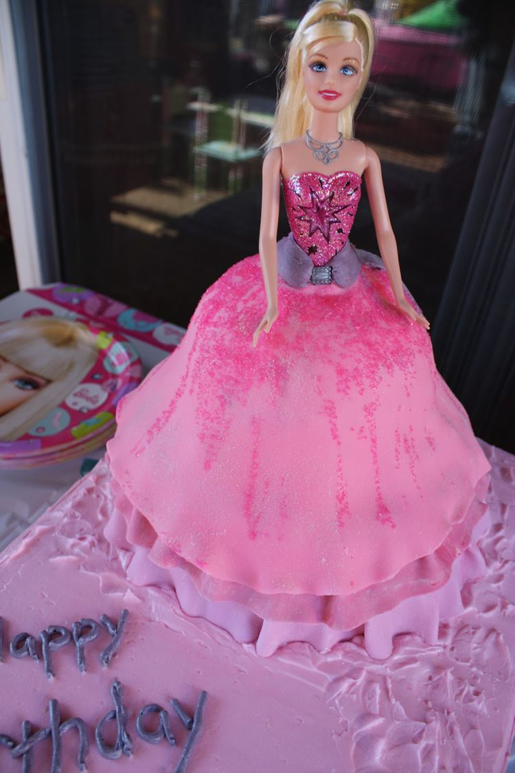 Cake Images Barbie : Happy birthday cake   Barbie