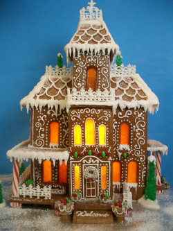 Huge gingerbread house