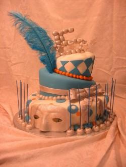 Masquerade Quinceanera cake