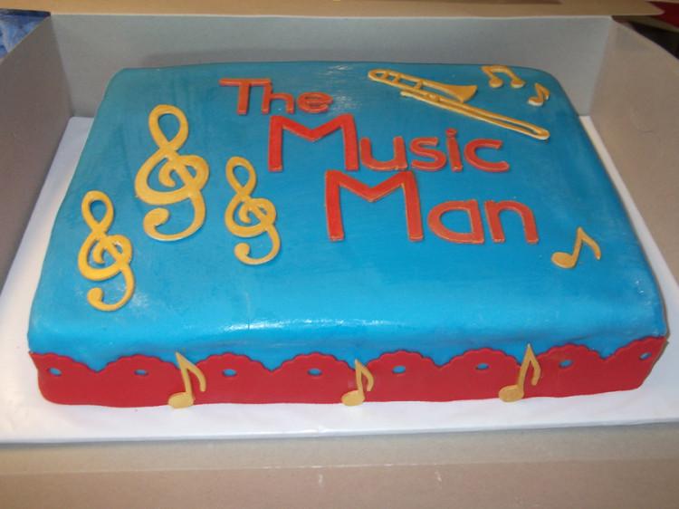 Music Man cricut cake