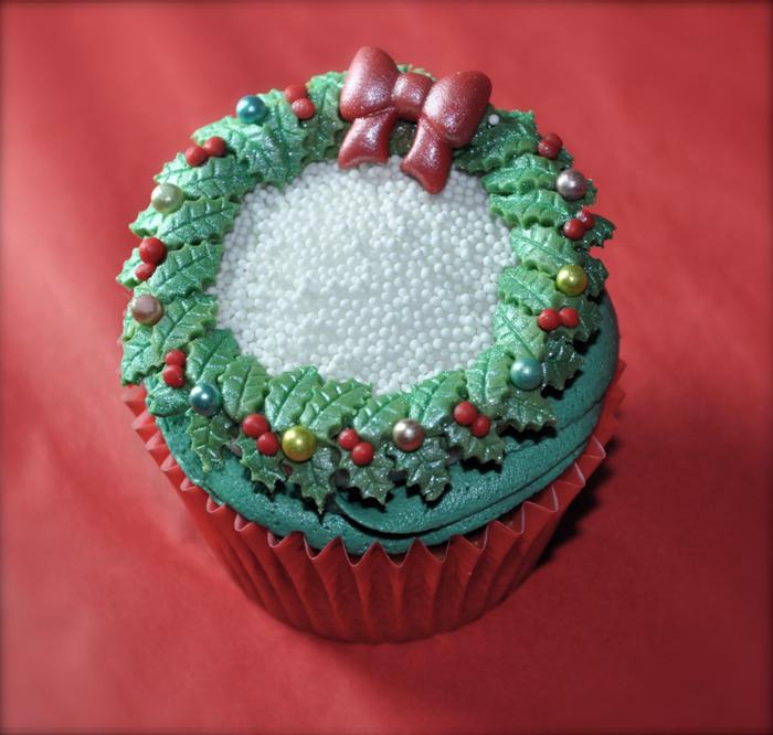 Nice Christmas cupcake