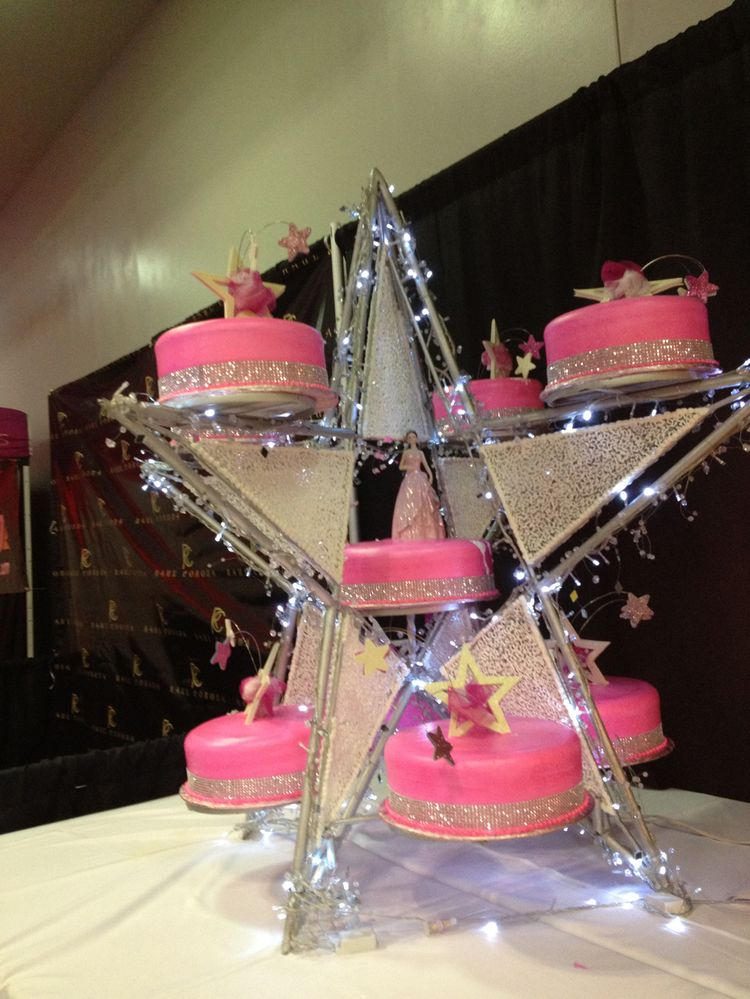 Star shape Quinceanera cake