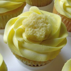 Tasty lemon cupcake
