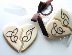 Wedding cookies heart pieces