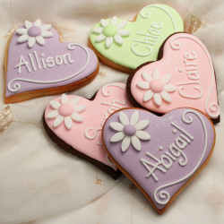 Wedding cookies hearts
