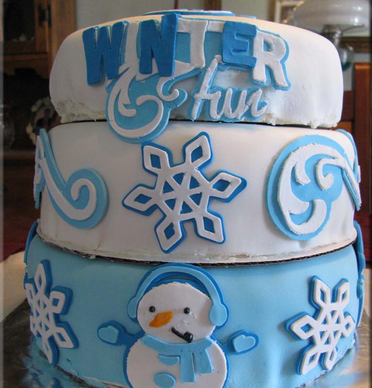 Winter cricut cake