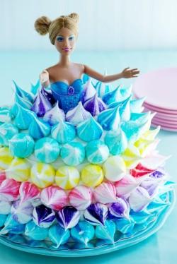 Meringue Barbie cake