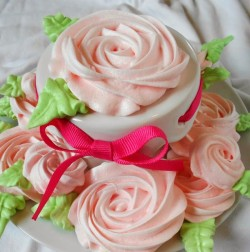 Meringue cookies – flowers