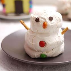 Meringue snowman