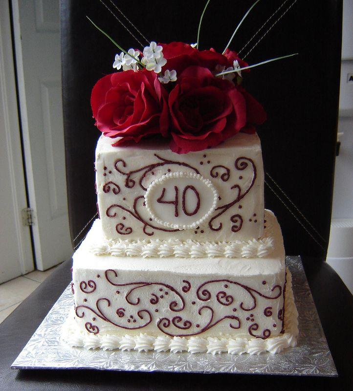40 Years Anniversary Cake