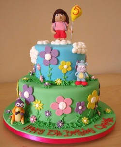 5th Birthday Dora cake