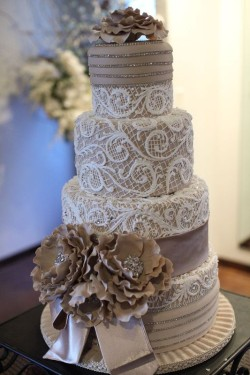beautiful fondant wedding cakes images