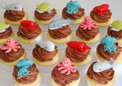 Beautiful sea theme cupcakes