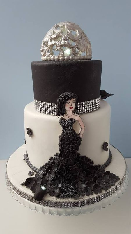 Birthday Cake Black Lady