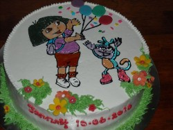 Birthday  cake with Dora