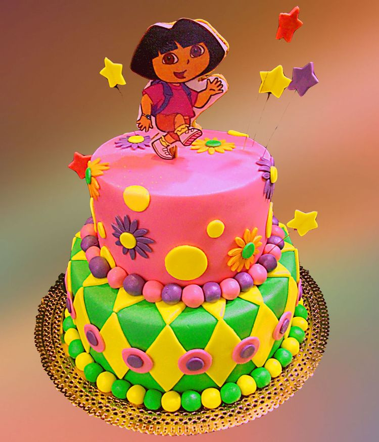 Birthday cake with Dora