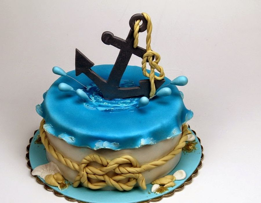 Cake with anchor
