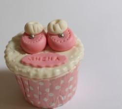 Christening cupcake