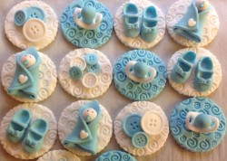 Christening cupcakes toppers
