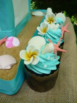 Cupcakes with sea star
