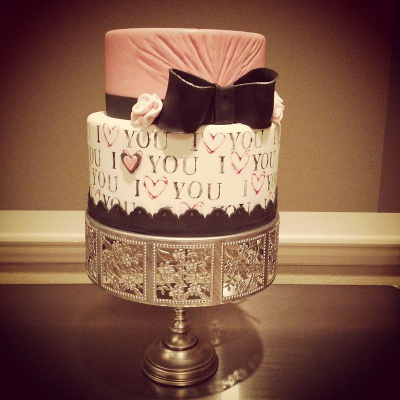 Cute Valentine's days cake