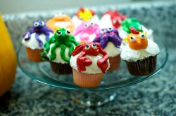 Cute sea theme cupcakes