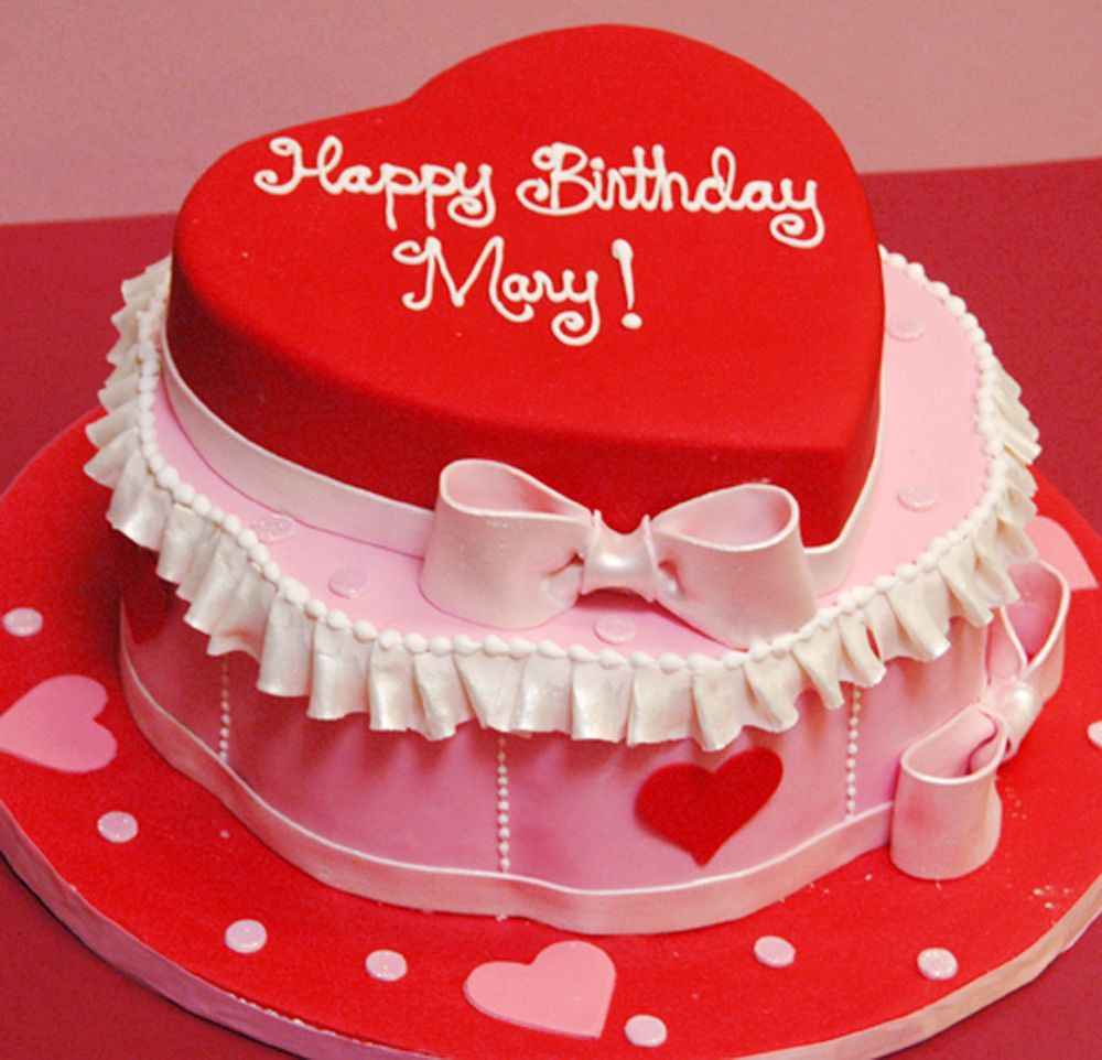 Birthday Cake Designs Love : Heart shape birthday cake