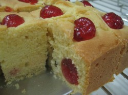 Madeira cake with cherries