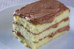 Madeira vcake with chocolate