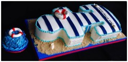 Nautical cake anchor