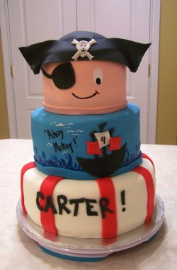 Pirate cake for Carter