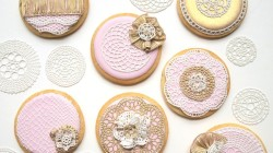 Wedding cookies with lace