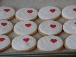 Wedding cookies with little heart
