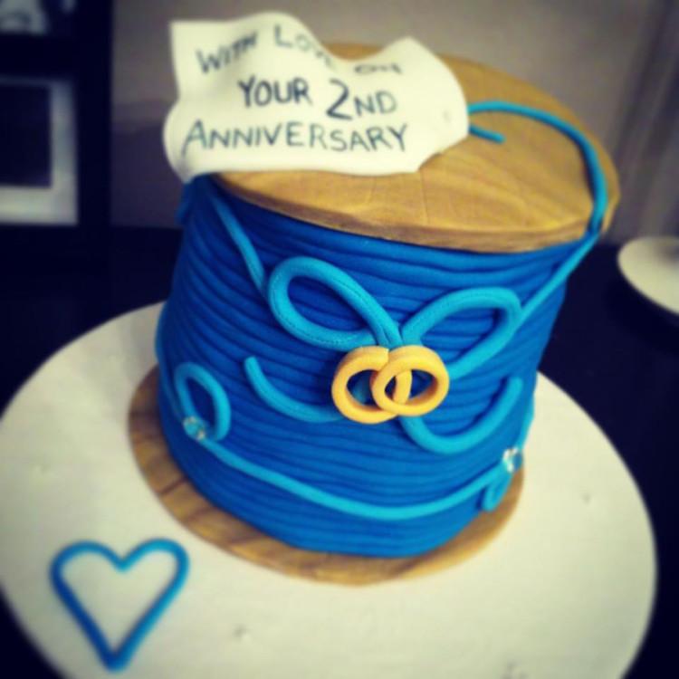 2nd Wedding Anniversary cake